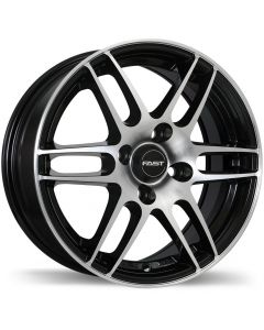 Fast Wheels Metro Gloss Black with Machined Face