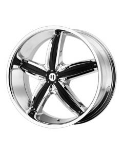 HELO Wheels HE844 CHROME W/ GLOSS BLACK ACCENTS