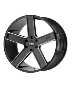 KMC Wheels DUECE SATIN BLACK MILLED