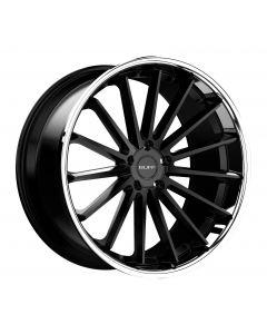 Ruff Racing R3 SATIN BLACK W/CHROME STAINLESS STEEL LIP