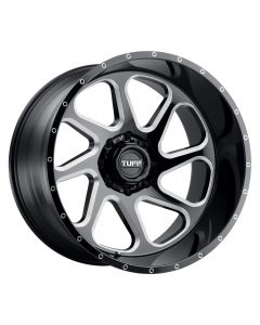 Tuff T2B GLOSS BLACK W/MILLED SPOKE LEFT