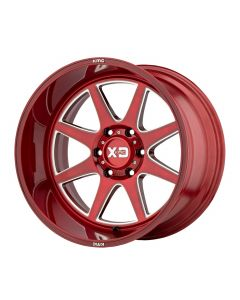 XD Series PIKE BRUSHED RED W/ MILLED ACCENTS