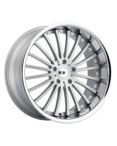 XO Wheels NEW YORK MATTE SILVER W/ BRUSHED FACE AND STAINLESS STEEL LIP
